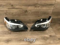 04 2007 Bmw E60 530i 545i Left & Right Xenon Headlight Adaptive Dynamic Set Oem