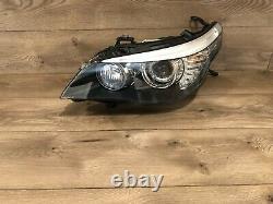 2008 2010 Bmw E60 E61 M5 535i Left Side Xenon Headlight Adaptive Bi Xenon Oem