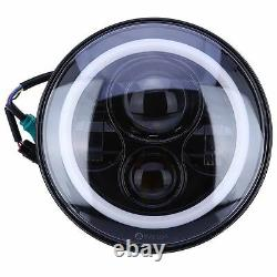 7 Upgrade LED Halo Headlamp Headlights High / Low Beam Fits CLASSIC CARS