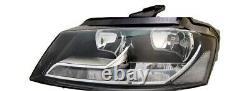 Audi A3 2008-2018 shape Headlight Headlamp Lh Left Passenger MOT certificate