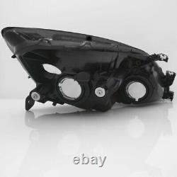 Crystal Headlights Black Amber Reflector Lamps For 2003-2007 Honda Accord 2/4Dr