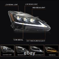 Customized AMBER FULL LED Headlights Headlamps for 2006-2012 IS250 IS350 IS300