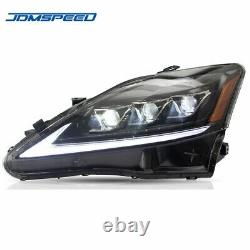 DRL LED Headlights Dynamic Head Lamps For 2006-2012 Lexus IS250 IS350 IS300