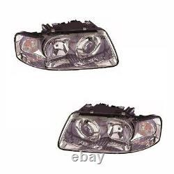 For Audi A3 Mk1 2000-2003 Headlights Headlamps Lighting 1 Pair O/S & N/S