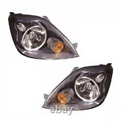 For Ford Fiesta Mk6 10/2005-2008 Headlights Headlamps 1 Pair O/S & N/S