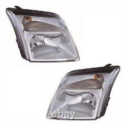 For Ford Transit Connect 2002 Headlights Headlamps 1 Pair O/S & N/S