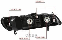 For Honda Accord 1998-2002 HeadLights Head Lamps Chrome/Clear Set Pair LH+RH