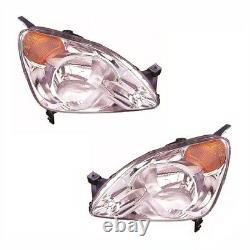 For Honda Cr-V 2001-2003 Headlights Headlamps Lighting 1 Pair O/S & N/S