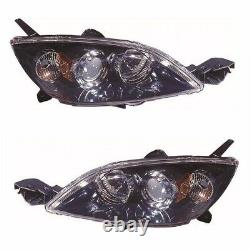 For Mazda 3 Mk1 Hatchback 2004-9/2009 Headlights Headlamps 1 Pair O/S & N/S