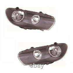 For VW Scirocco 2008-4/2015 Headlights Headlamps 1 Pair O/S And N/S