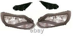 Ford Focus Mk3 Zetec/titanium 2011-2015 Headlight Headlamp N/s & O/s 1 Pair Set