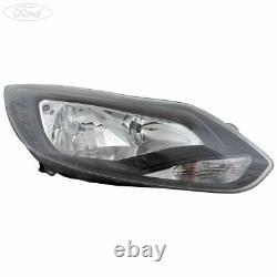 Genuine Ford Focus Mk3 Front O/S Headlight Headlamp Unit Black RHD 11-15 1873934