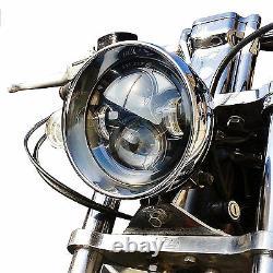 Harley Custom Motorcycle 5 3/4 Projector Headlamp LED Headlight Unit