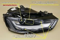 Headlight headlamp Audi A4 S4 B8 Facelift 2012-2015 Xenon Left / Passenger Side