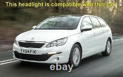 Headlight headlamp Peugeot 308 II MK2 2013-2017 Right Side, Driver Side Off Side