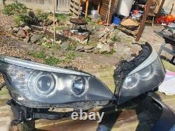 Headlights headlamps BMW 5-Series E60 E61 LCI 2007-2010 right Left O/s N/s