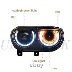 LED Headlights For 2008-2014 Dodge Challenger Coupe Headlamp 5028776AA 5028777AA