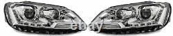 LHD Right Left Projector Headlight Headlamp Set Chrome For VW Jetta MK6 10-On