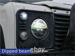 Land Rover Defender Trucklite 7 Led Phaser Headlamp Headlight Upgrade Rhd