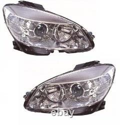 Mercedes C Class W204 2007-2011 Headlight Headlamp Right Side Off Side Rh
