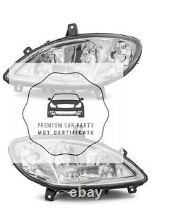Mercedes Viano Vito 2003-2010 W639 Clear glass headlights headlamp Pair O/s N/s