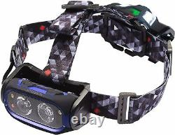 Nightsearcher LED Torch Rechargeable 800 lm Torches NSHT800RX Headlamp Headlight