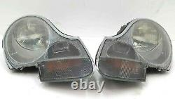 Pair of Genuine Porsche 996 Smoked / Clear Headlights Headlamps 986 Boxster