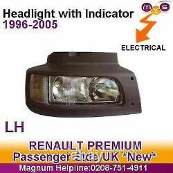 Renault Midlum Headlight Headlamp With Indicator Manual Adjust Left 1996