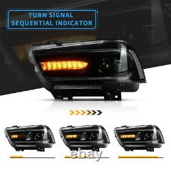 UK RHD LED Headlights For Dodge Charger 2011-14 Headlamp With Dynamic Indicator