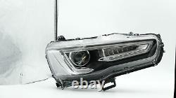 Upgraded SPRAY LACQUER LED Headlights with Sequential Turn Signal for 08-17 Lancer