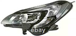 Vauxhall Corsa E 2014-2017 Headlight Headlamp Pair Set O/s N/s Right Left
