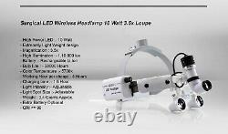 Wireless Dental Headlight Loupe LED ENT Medical Surgical Headlamp 10W Portable